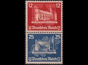 Dt. Reich, Bl S 4, Block-Zd. ohne Gummi, ungeknickt, Mi.-Handbuch 180,- (1816)