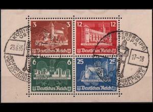 Dt. Reich, Bl Hz 3, Block-Zd. mit Ersttags-SST, Mi.-Handbuch 400,- (1820)
