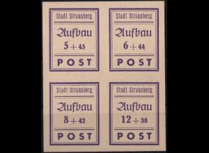 Strausberg, Bl Hz 1, Block-Zd. postfrisch, kpl. Satz, Mi. 30,-