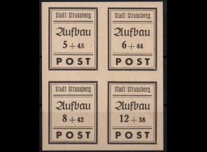 Strausberg, Bl Hz 2, Block-Zd. postfrisch, kpl. Satz, Mi. 30,-