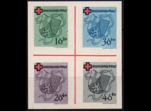 Frz. Zone Rh. Pfalz, Bl Hz 1, Block-Zd., ungebraucht, ungeknickt, Mi. 90,- ++