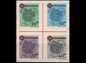 Frz. Zone Württemberg, Bl Hz 1, Block-Zd., ungebraucht, ungeknickt, Mi. 110,- ++