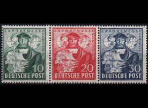 Bizone, Bl W 2 a, Block-Zd., postfrisch, ungeknickt, Mi. 50,- (1939)