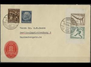 Dt. Reich, Bl S 5, Block-Zd. portogerechter Ortsbrief, Mi. 1000,- (1989)