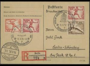 Dt. Reich, Bl S 7 + W 12, Block-Zd., portogerecht, Mi.-Handbuch 1000,- (1999)