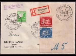 Dt. Reich, Bl S 4, Block-Zd., portoger. R-Brief, Mi. 900,- (2003)