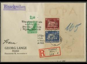 Dt. Reich, Bl S 4, Block-Zd., portoger. R-Brief, Mi. 900,-