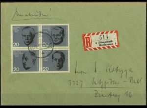 Bund, Bl VB 2, Block-Zd., R-Brief (EF), Mi. 80,- (2053)