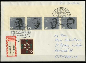 Bund, Bl V-Str. 2, Block-Zd., portogerechter Auslands-R-Brief, Mi. 100,- (2055)