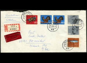 Bund, Bl S 2, Block-Zd., portogerechter EIL-R-Brief, Mi. 50,-