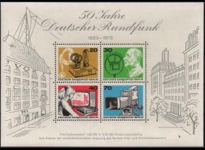 Berlin, Block 4 PF I, Plattenfehler-Block, postfrisch, Mi. 70,- (2140)