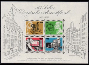 Berlin, Block 4 PF II, Plattenfehler-Block, postfrisch, Mi. 70,- (2141)