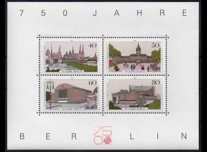 Berlin, Block 8 PF I, Plattenfehler-Block, postfrisch, Mi. 50,-