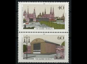 Berlin, Bl S 7 PF I, mit Plattenfehler, postfrisch, Mi. 45,-
