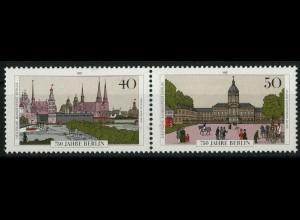 Berlin, Bl W 10 PF I, mit Plattenfehler, postfrisch, Mi. 45,-