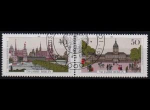 Berlin, Bl W 10 PF I, mit Plattenfehler, gestempelt, Mi. 45,-
