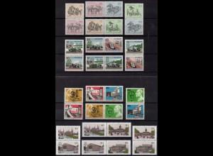 Berlin, Bl S 1 - W 11, kpl. Kollektion aus Block 2-8, postfr., Mi. 26,60 (2154)