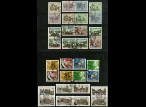 Berlin, Bl S 1 - W 11, kpl. Kollektion aus Block 2-8, gest., Mi. 26,90 (2155)