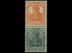 Dt. Reich, S 3 ab, postfr., vollst. Zähnung, gepr. BPP, Mi. 40,- (2188)