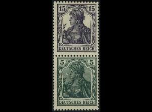 Dt. Reich, S 6 aa, Falz, vollständige Zähnung, gepr. BPP, Mi. 180,- (2190)