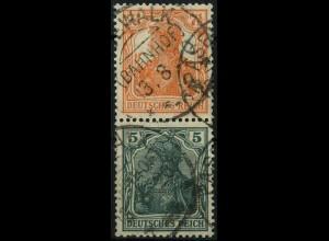 Dt. Reich, S 3 ab, gestempelt, gepr. BPP, Mi. 30,- (2194)