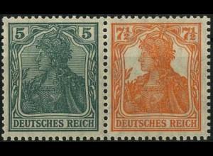Dt. Reich, W 5 ab, Falz, gepr. BPP, Mi. 50,- (2197)