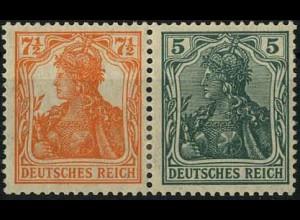 Dt. Reich, W 6 ab, Falz, sehr gute Zähnung, gepr. BPP, Mi. 120,- (2198)
