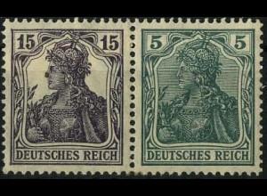 Dt. Reich, W 9 aa, Falz, vollständige Zähnung, gepr. BPP, Mi. 300,- (2199)