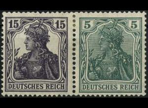 Dt. Reich, W 9 aa, Falz, vollständige Zähnung, farbgeprüft, Mi. 300,- (2200)