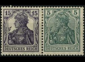 Dt. Reich, W 9 aa, Falz, vollständige Zähnung, gepr. BPP, Mi. 300,- (2201)