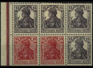 Dt. Reich, HBl. 21 ab B 3, Falz, Farbe 'b', gepr. BPP, Mi. 290,- (2222)