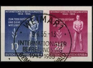 DDR, Bl W 17 X I, Block-Zd., gestempelt, Mi. 28,-