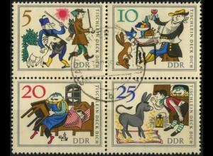 DDR, Klb-VB 4 PF 3, Zd. mit Plattenfehler, Tagesstempel, Mi. 80,-