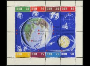 DDR, Klb 926-933 A mit Plattenfehler 1, postfrisch, Mi. 100,-