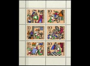 DDR, Klb 1323/28 A mit Plattenfehler 1, postfrisch, Mi. 80,-