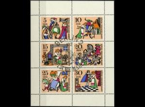 DDR, Klb 1323/28 A mit Plattenfehler 1, gestempelt, Mi. 80,-