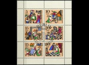 DDR, Klb 1323/28 A mit Plattenfehler 2, gestempelt, Mi. 80,-