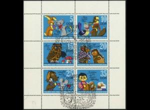 DDR, Klb 1807/12 D, mit Plattenfehler 2, Ersttags-SST, Mi. 60,-