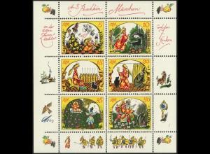 DDR, Klb 2914/19 E PF 4, mit Plattenfehler, postfrisch, Mi. 60,-