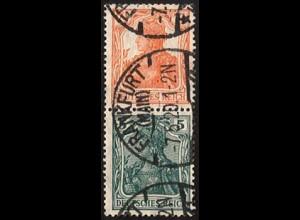 Dt. Reich, S 3 ab, gestempelt, ungeknickt, Mi. 30,- (2815)