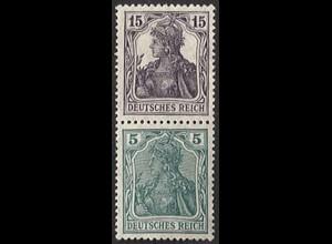 Dt. Reich, S 6 aa, ungebraucht (Falz), ungeknickt, Mi. 180,- (2818)