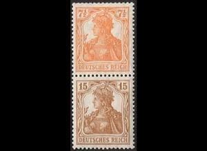 Dt. Reich, S 7 ba, ungebraucht (Falz), Mi. 180,- (2820)