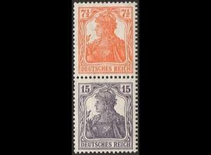 Dt. Reich, S 8 ba, ungebraucht, ungeknickt, nicht angetrennt, Mi. 180,- (2823)