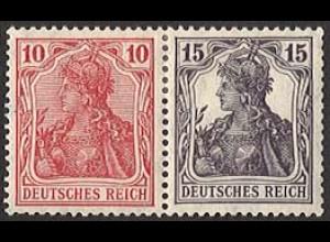 Dt. Reich, W 12 aa, ungebraucht (Falz), Mi. 50,- (2828)