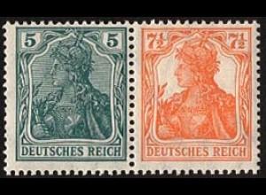 Dt. Reich, W 5 ab, ungebraucht (Falz),sehr gute Zähnung, Mi. 50,- (2832)