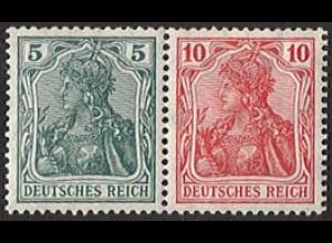 Dt. Reich, W 7 I ab, ungebraucht (Falzspur), sehr gute Zähnung, Mi. 60,- (2835)