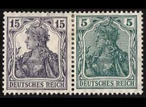 Dt. Reich, W 9 aa, ungebraucht, vollständige Zähnung, Mi. 300,- (2836)