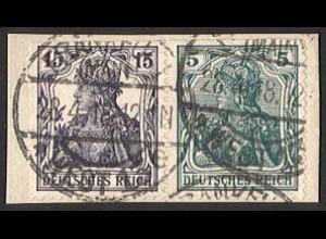 Dt. Reich, W 9 aa, gestempelt auf Briefstück, Mi. 350,- (2837)