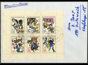 DDR, Klb. 1236-1241 PF I, Kleinbogen m. Plattenfehler, Mi.-Handb. 110,- (2864)