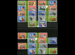 DDR, Block 19, postfrisch, kpl. Serie, 13 Zusammendrucke, Richter 162,-
